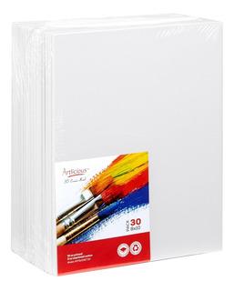 Paquete De 30 Pzs Bastidores Lienzos Para Pintar 19.6 X 24.5