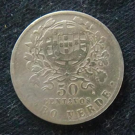 Cabo Verde 50 Centavos 1930 Bueno Km 4 Colonia Portuguesa