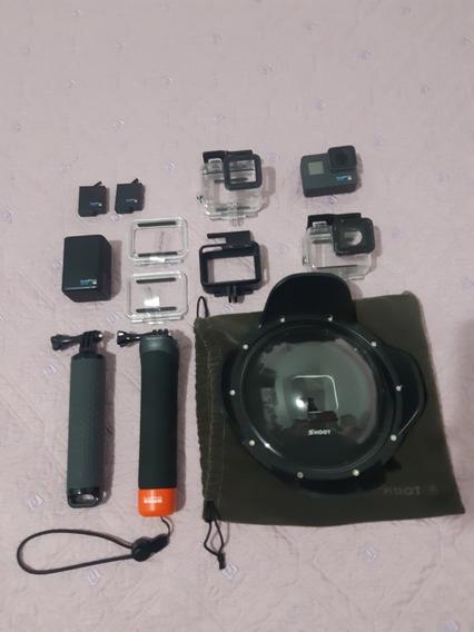 Câmera Go Pro Hero 6 Black Semi Nova Vários Acessórios