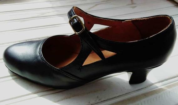 Zapatos De Español/ Folclore , Cuero Legítimo, Excel Calidad