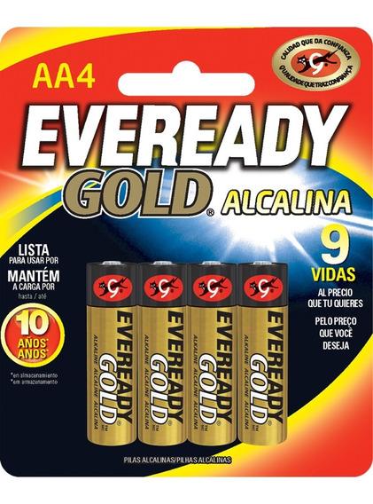 Pilas Baterias Alcalinas Aa 1.5v Paquete De 4 Eveready Gold