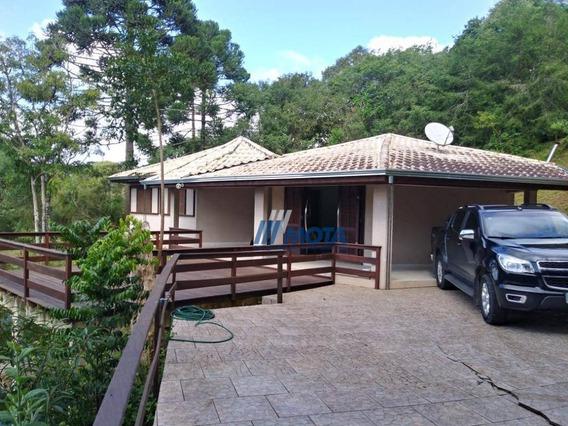 Chácara A Venda Próxima Do Centro De Piraquara 23.792,34m2 Com Linda Casa Frente Para O Lago Com Um Belo Deck De Madeira A Casa 130,00 M2 - Ch0157