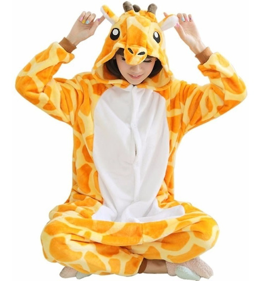 Kigurumi Jirafa Pijama Completa Mameluco Onesi Moda Japonesa