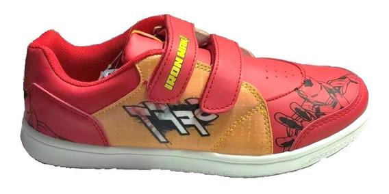 Zapatillas Marvel Ironman Abrojos Talle 25 A 30 Fty Calzados