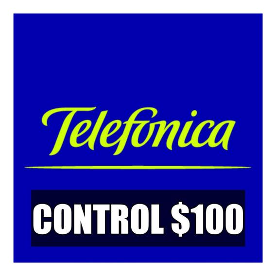 Tarjeta Telefónica Control Pin 100 Carga Credito
