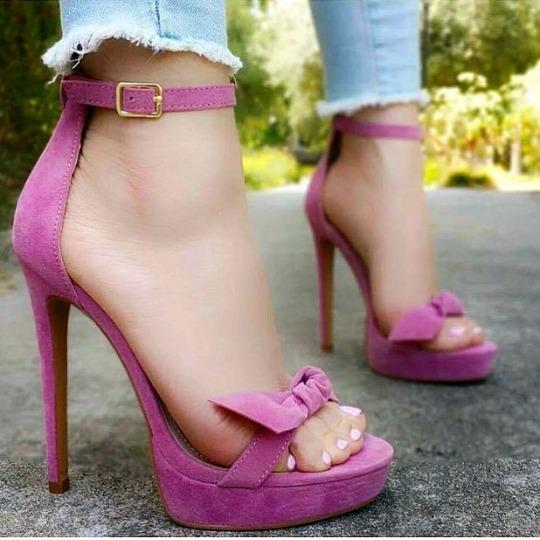 Sapatos Femininos Sandálias Pink Salto 12