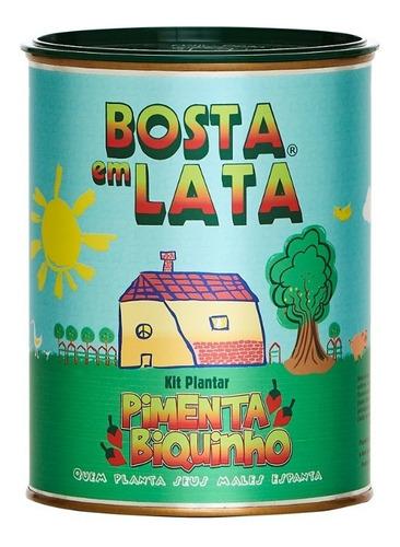 Imagem 1 de 3 de Kit Plantar Bosta Em Lata Pimenta Biquinho - 330 G