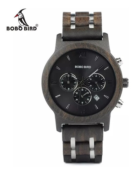 Reloj Original De Madera Natural De Zebra Hombre Chocolate