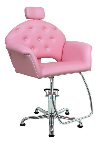 Cadeira Cabeleireiro E Maquiagem Reclinável - Velvet Kixiki