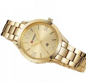 Relógio Feminino Quartzo Curren Cor Dourada Ouro - Ouro -