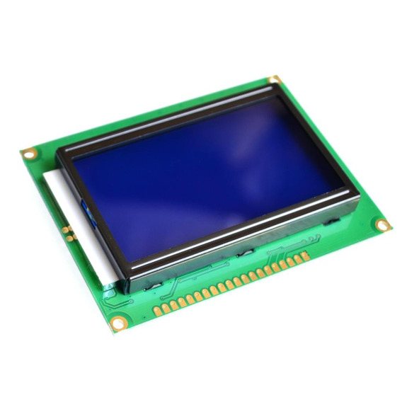 Display Lcd Gráfico 128x64 Backlight Azul Para Arduino Pic