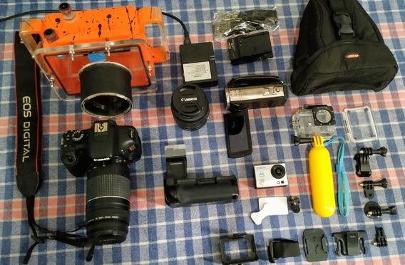 Câmeras Canon Filmadora Panasonic Caixa Estanque Fotografia