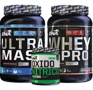 Combo Ena Ultra Mass + Oxido Nitrico + Proteina Whey X Pro