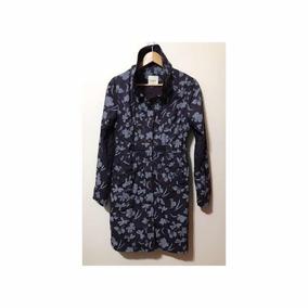 Casaco Trench Coat Floral Violeta Roxo M Da Kwid