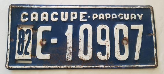 Placa Carro Antiga Ferro Paraguai Caacupé C-10907