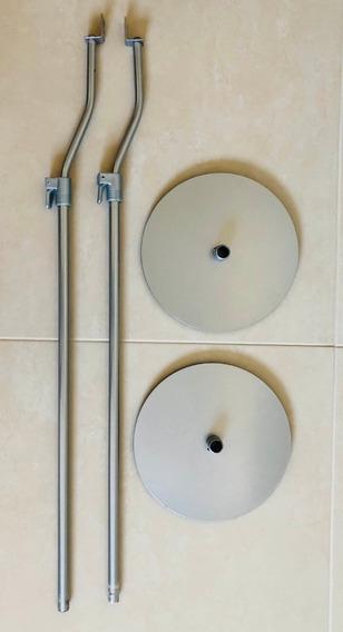Par De Pedestais Para Caixas Acústicas Em Aço E Alumínio