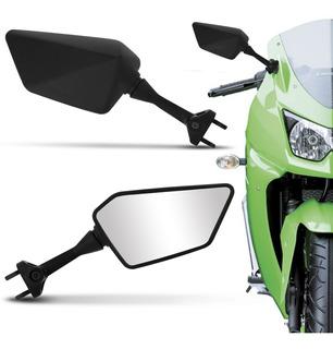 Retrovisor Modelo Kawasaki Ninja 250 Universal Preto Par