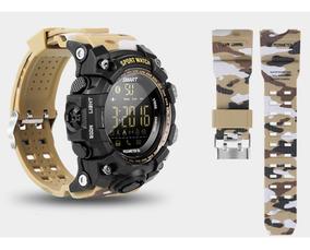 Smartwatch Militar Relogio Camuflado A Prova D