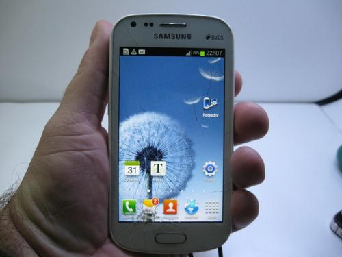 Somente Display Ok Samsung Galaxy S Gt-s7562l Tocuh Trincado