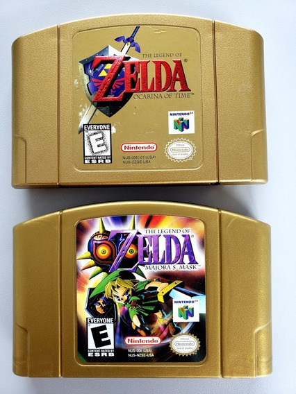 Lote Zelda Majoras Mask + Ocarina Of Time N64 Original