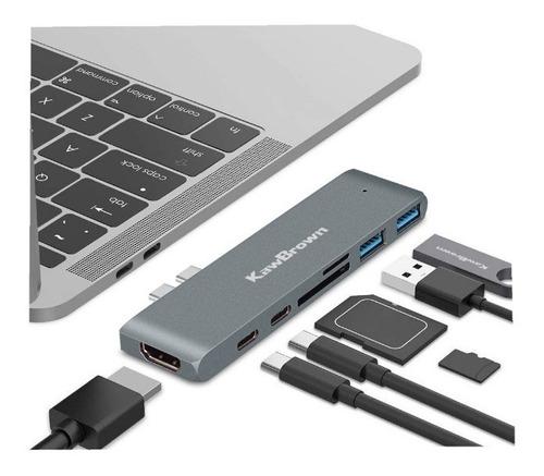 Usb Hub C 7em1 3.0 Hdmi Adaptador Macbook Pro Thunderbolt 3