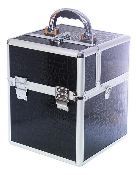 Maletín Profesional Porta Maquillaje Tc 3166 R Black Croc