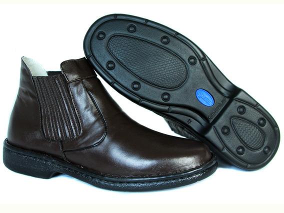 Sapato Social Botinha Bretão Boots - Linha Antistress Pelica