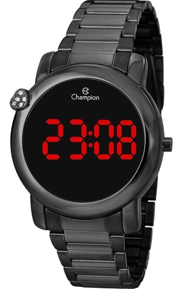 Relógio Champion Led Digital Feminino Ch48064d Preto