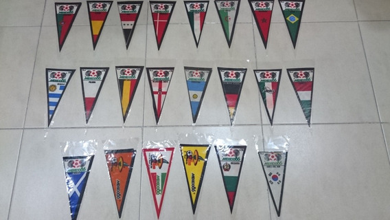 Coleccion 22 Banderines Mundial Mexico 86 1986 Pique