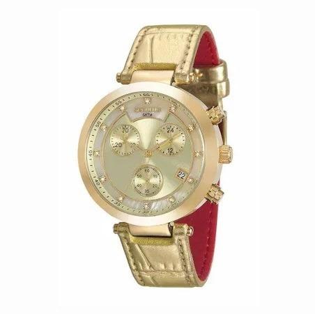 Relógio Séculus Cronográfo Feminino 20450lpsvdr4 Dourado