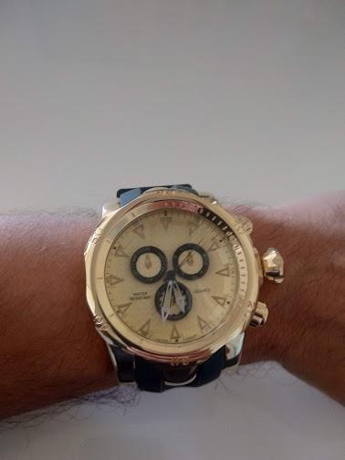 Relógio Masculino Shhors 1216 Dourado Novo