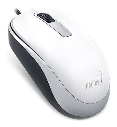 Mouse Genius Wired Dx-125 Usb 1200 Dpi Branco