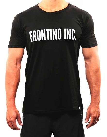 Franela Tipografía Blanco - Frontino Inc. - Crossfit - Negro
