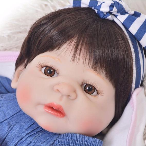 Bebê Reborn Real Menina Boneca 100% Silicone Pronta Entrega