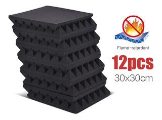 12 Paquete Studio Espumas Acústico Esponja Paneles Azulejos