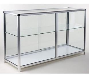 Vitrina Exhibidor De Vidrio Y Aluminio - Remate
