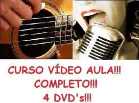Curso De Violão + Canto! Aulas Em 4 Dvds Ghç