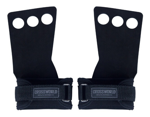 Hand Grip Para Cross  Pull Up  Lpo Couro  3 Furos  Fit