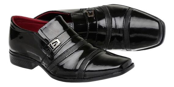 Sapato Social Masculino Em Verniz Ref :803