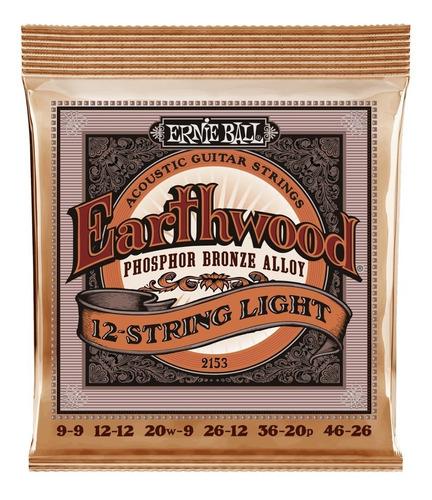 Imagen 1 de 1 de Encordado Ernie Ball 12 Cuerdas Phosphor Bronze Eb2153 9-46