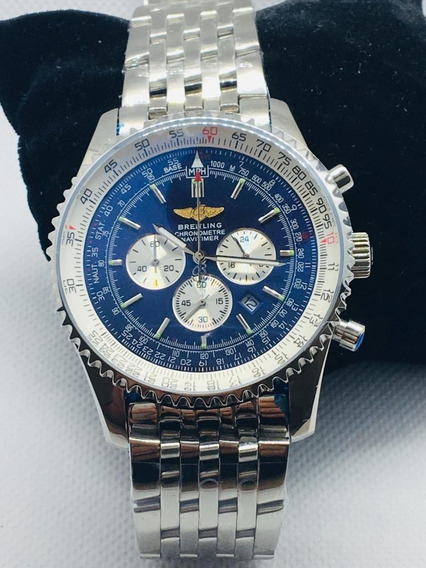 Relógio Breitling Breit Cronometre Navitime Prata