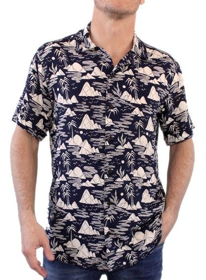 Camisa Vicus Woods Azul