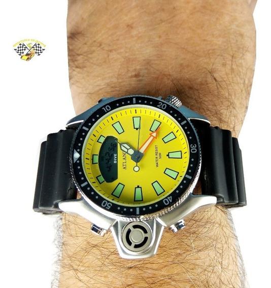 Relógio Masculino Atlantis A3220 Aqualand Jp2000 Amare Borr