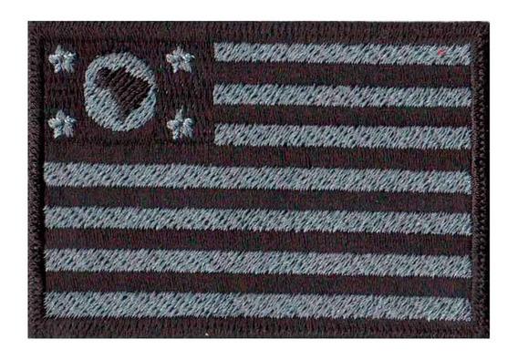 Bordado Patch Bandeira Negativa Estado São Paulo Bd50269