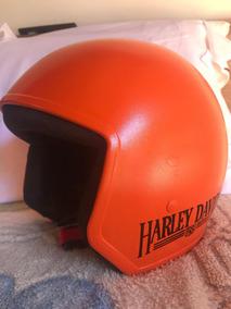 Capacete Harley-davidson Customizado Laranja