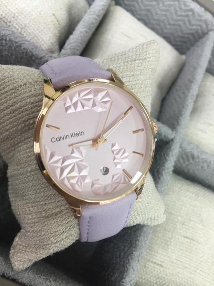 Reloj Calvin Klein Cuero Mujer Versatil