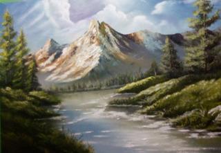 Quadro Pintura Óleo Tela Painel 50 X 70 Cm. Obra: Quente