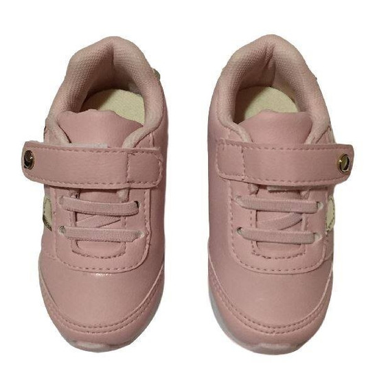 Tênis Feminino Infantil Rosa Club Happy 005