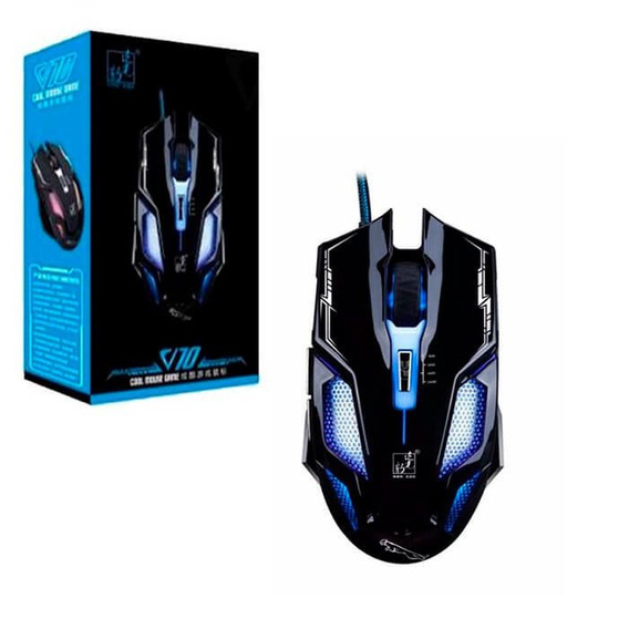 Mouse Com Fio 2400dpi Leopard Com Led Pronta Entrega