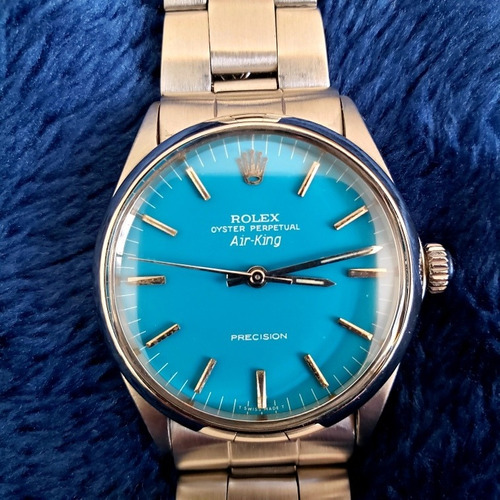 Rolex Air King Vintage 1966 Turquoise Dial Colecao